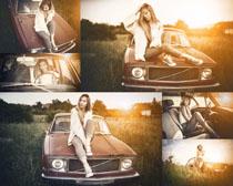 怀旧汽车与美女摄影高清图片