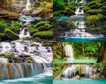 山水瀑布自然风景摄影高清图片