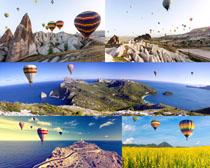 风景与热汽球摄影高清图片