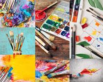 彩色水彩笔摄影高清图片