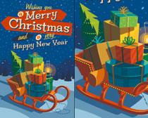 圣诞吊旗海报矢量素材