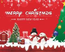 圣诞快乐挂牌设计矢量素材