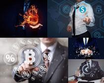 货币图标商务男人摄影高清图片