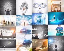商务人士与图案摄影高清图片