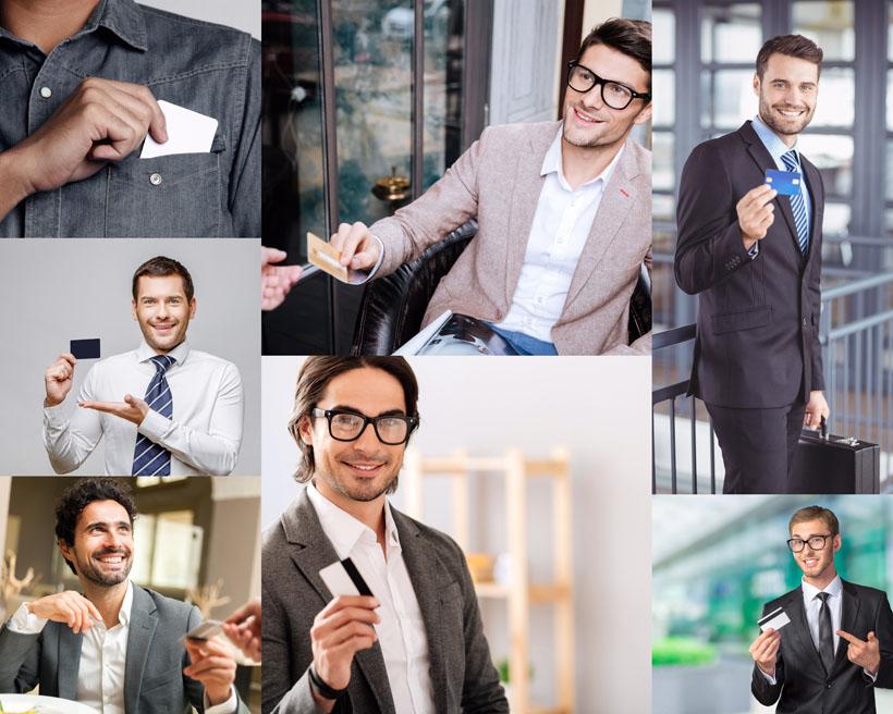 帅气的商务男子拍摄高清图片