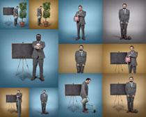 无解的商务男人摄影高清图片