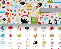 圣诞节饰挂件笔刷素材