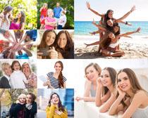 开心的生活女孩摄影高清图片