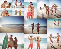 沙滩浪漫夫妻摄影高清图片