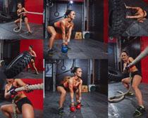 力量型女子攝影高清圖片