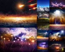 云层与闪电风景摄影高清图片