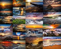 美丽的夕阳海景摄影高清图片
