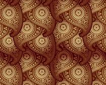 精美的佩斯利花纹填充图案