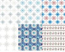 圣诞雪花图案PS填充素材