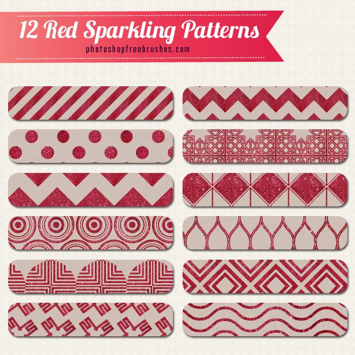 12種紅色星空背景PS填充圖案
