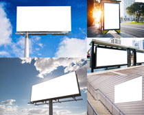 建筑广告牌子摄影高清图片