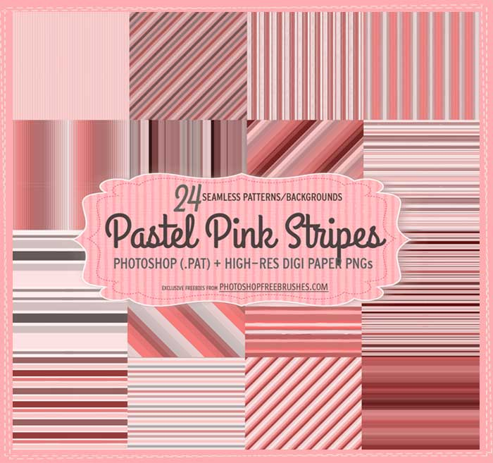 粉色線條PS填充圖案