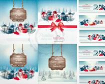 圣诞装饰礼盒矢量素材