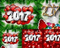 2017圣诞装饰背景矢量素材