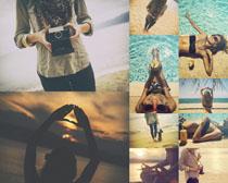 海滩性感美女摄影高清图片