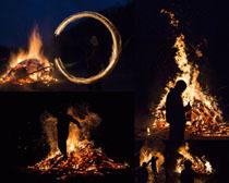 火焰与人物摄影高清图片