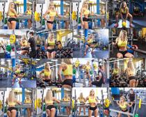 健身锻炼女子摄影高清图片
