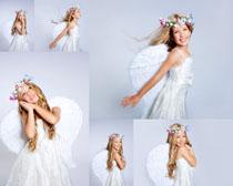 天使小女孩写真摄影高清图片