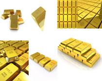 黄金金条摄影高清图片
