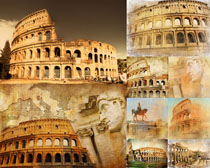 古罗马建筑摄影高清图片