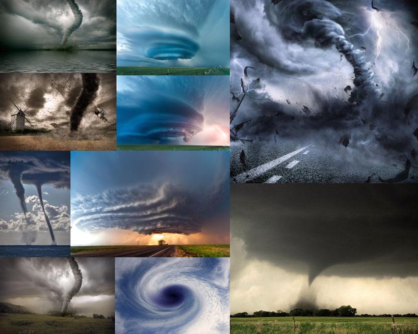 龙卷风灾害摄影高清图片