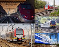 高铁动车摄影高清图片