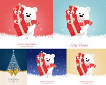 圣诞小熊卡通摄影高清图片
