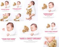 小熊与宝宝摄影高清图片