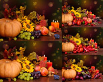 大南瓜与水果摄影高清图片