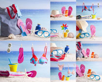 沙滩风景衣服摄影高清图片