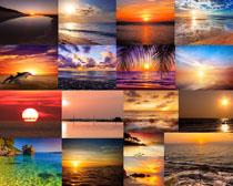 海边夕阳风景拍摄高清图片