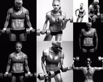 肌肉健身女子摄影高清图片