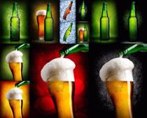 啤酒与杯子摄影高清图片