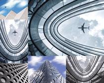 天空与建筑摄影高清图片