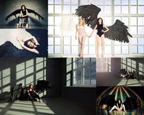 翅膀写真女人摄影高清图片