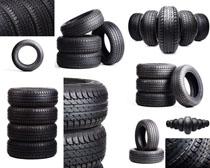 汽车轮胎摄影高清图片