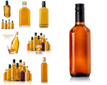 瓶子里的酒摄影高清图片