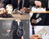 商务人士与美元摄影高清图片