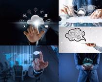 商务男人与云服务摄影高清图片