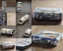 金融纸币摄影高清图片