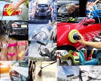 清洗汽车美容摄影高清图片