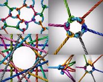 彩色绳子摄影高清图片