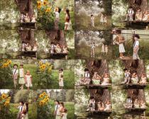 森林里的儿童摄影时时彩娱乐网站