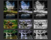 黑白效果老照片效果PS调色动作