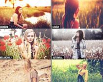 照片添加秋季色调效果PS动作素材
